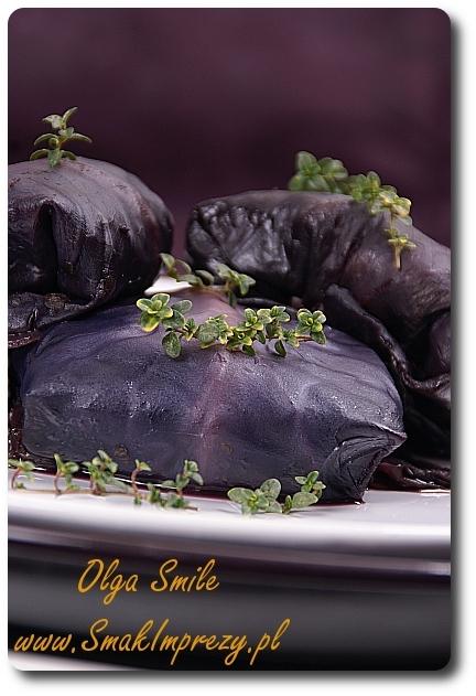 Wegańskie gołąbki z fioletowej kapusty