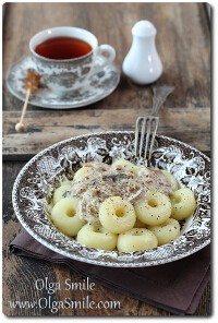 Kluski śląskie z sosem grzybowym