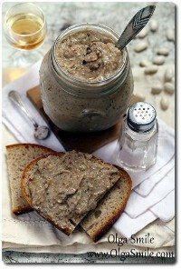 Pasta z fasoli z grzybami