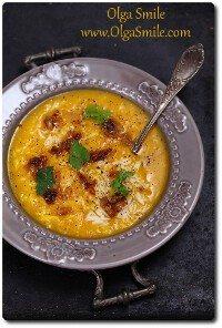 Zupa dyniowa z ryżem na ostro