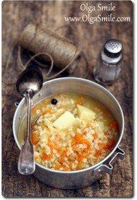 Krupnik z ryżem