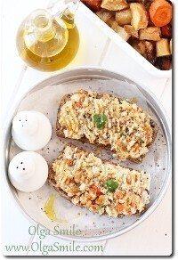 Pasta do chleba z fasoli i pieczonych warzyw korzeniowych