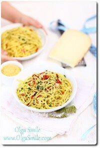 Spaghetti aglio olio Olgi Smile