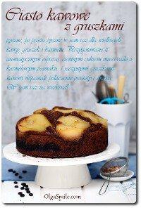 Ciasto kawowe z gruszkami
