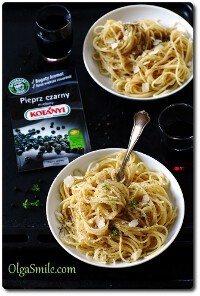 Spaghetti z czarnym pieprzem mielonym Kotanyi Olgi Smile
