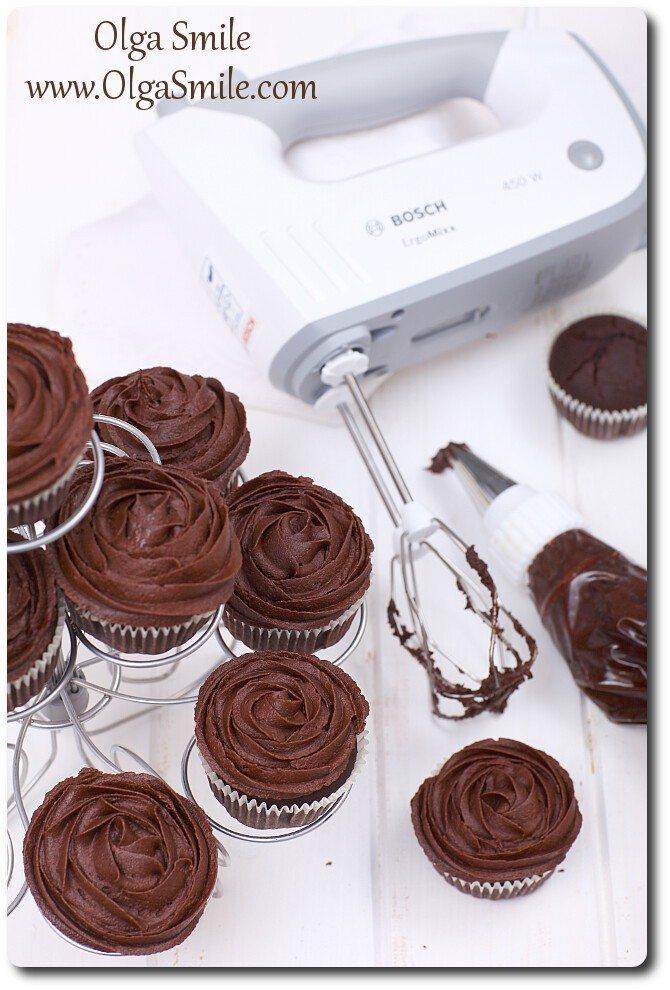 Babeczki z kremem czekoladowym