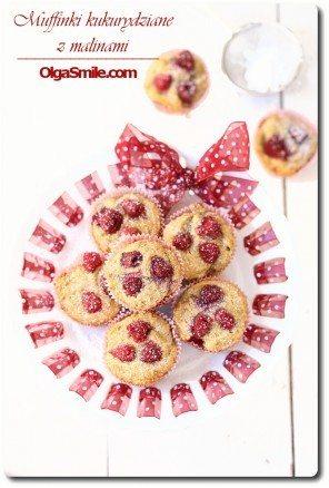 Muffinki kukurydziane z malinami Olgi Smile