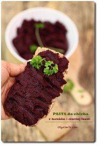 Pasta z fasoli z czarnej z burakami