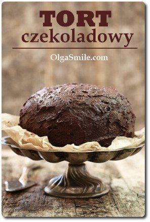 Tort zekoladowy z kremem