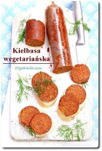 Kiełbasa wegetariańska z kasza jaglaną