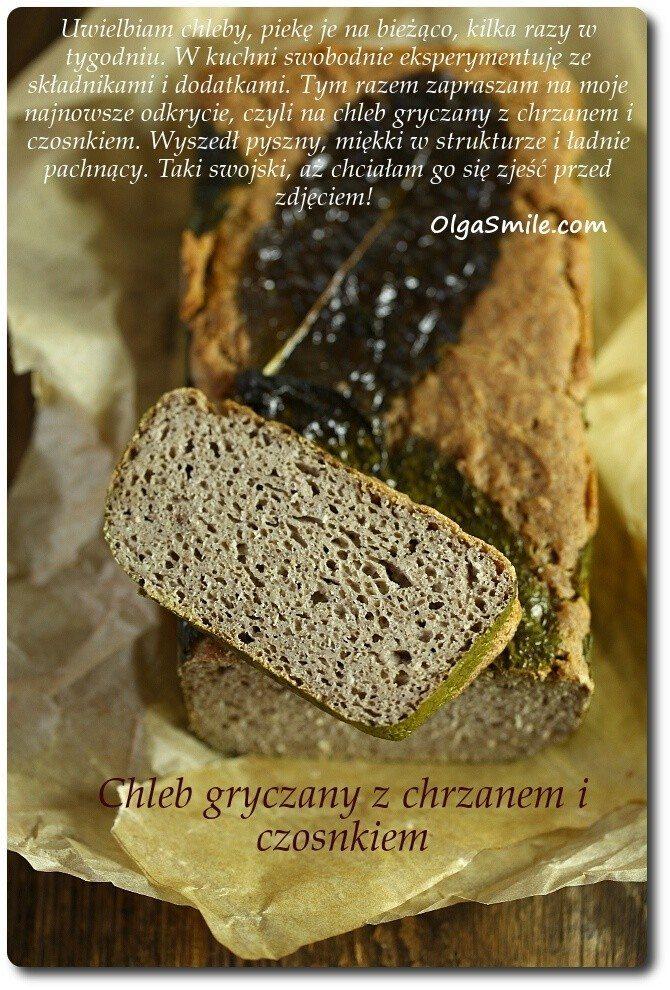 Chleb gryczany z chrzanem bezglutenowy