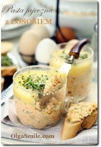 Pasta jajeczna z łososiem