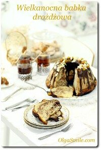 Wielkanocna babka drożdżowa