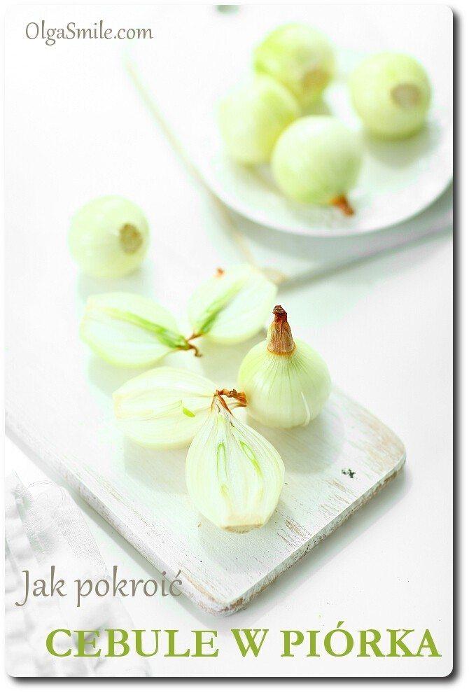 Jak pokroić cebule w piórka