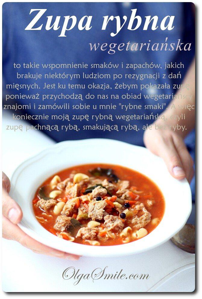 Zupa rybna wegańska
