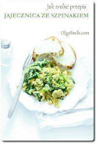 Jak zrobić przepis jajecznica ze szpinakiem