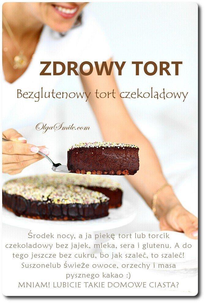 Zdrowy tort czekoladowy