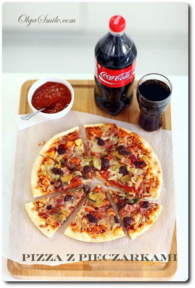 Pizza z pieczarkami