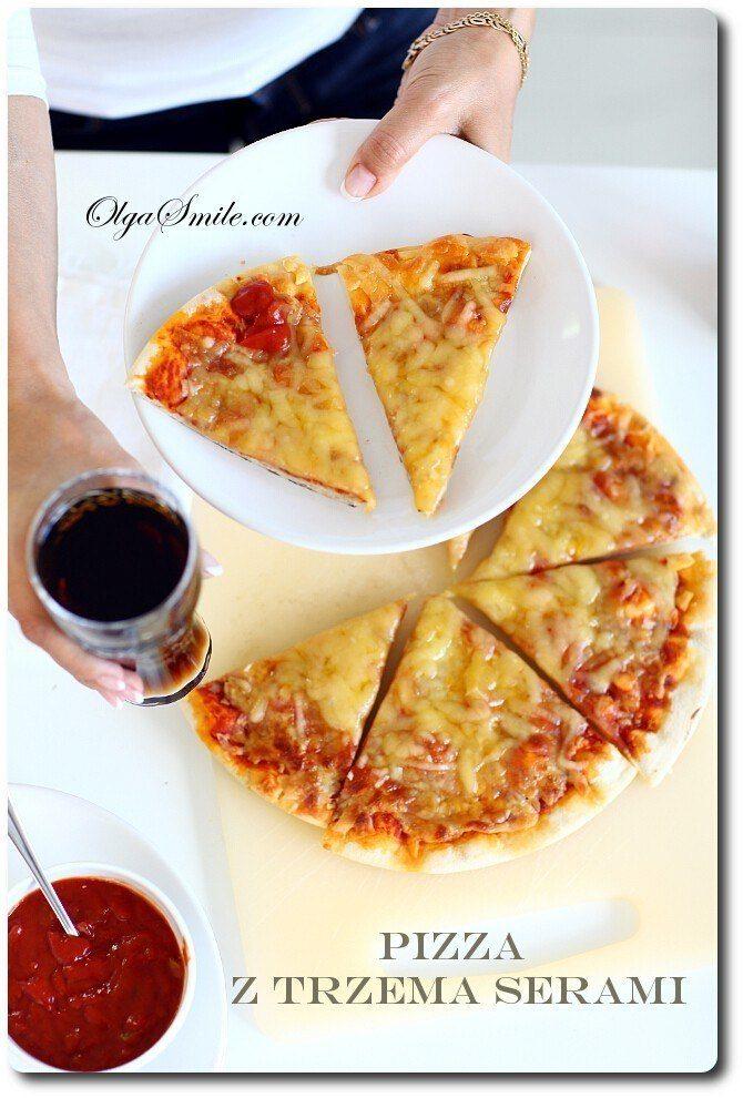 Pizza z trzema serami