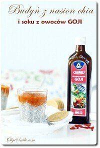 Budyń z nasion chia i soku z owoców goji