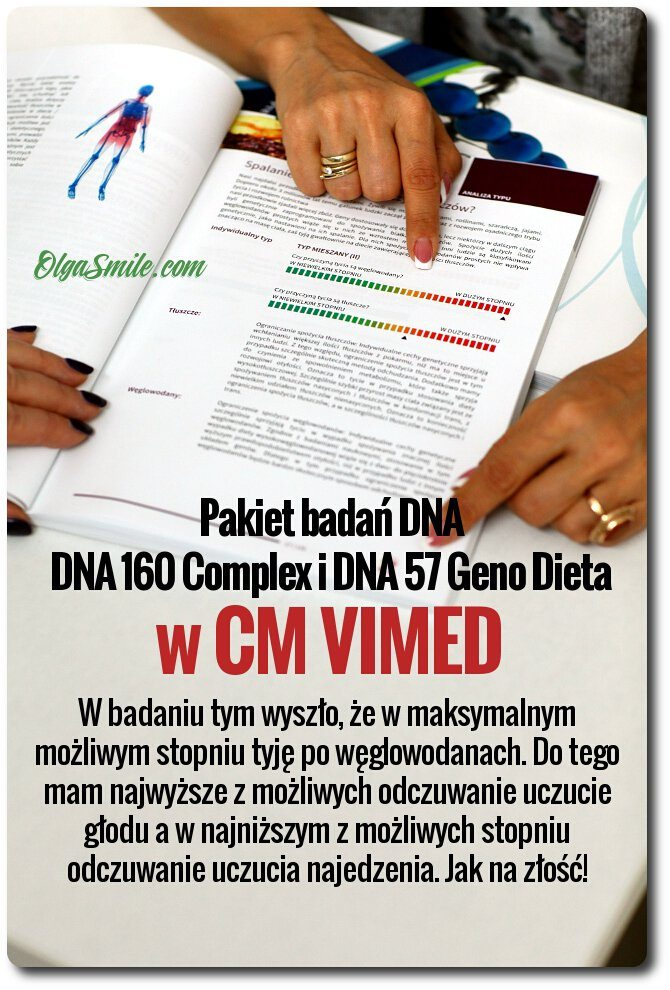 Badania DNA 160 Complex i DNA 57 Geno Dieta w CM VIMED