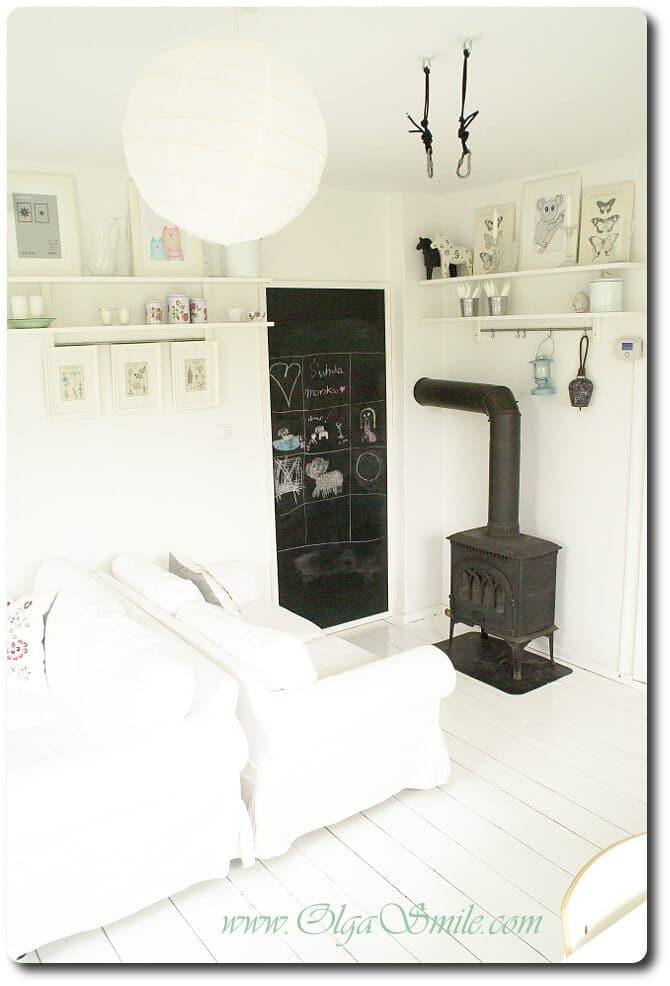 Biały salon