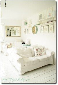 Salon z mebli IKEA