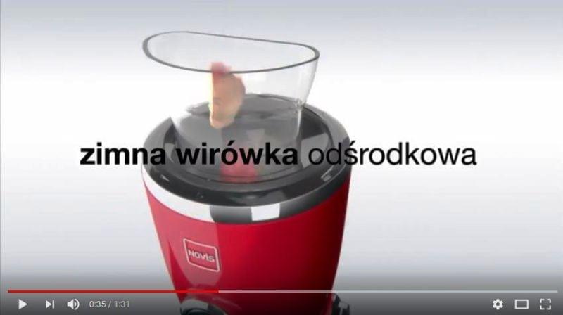 Zimna wirówka odśrodkowa - wyciskarka do soku Novis Vita Juicer