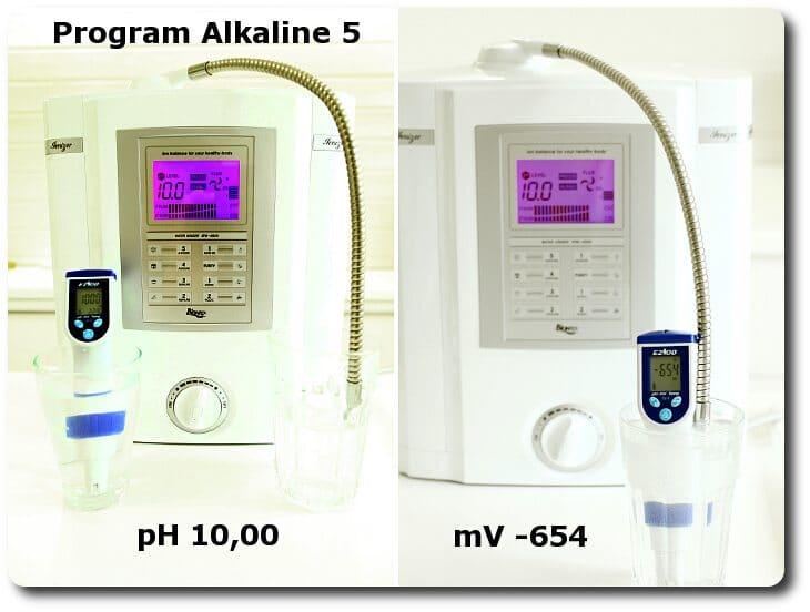Pomiary wody na programie ALKALINE 5 miernikiem pH i mV