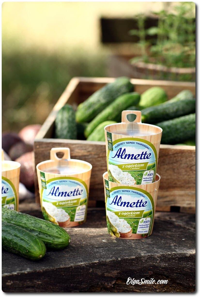 Smaki sezonu Almette z ogórkiem i ziołami.
