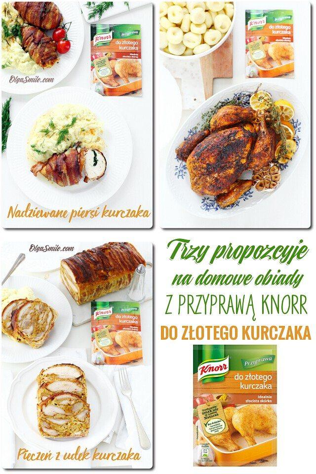 Trzy obiady z przyprawą do złotego kurczaka Knorr