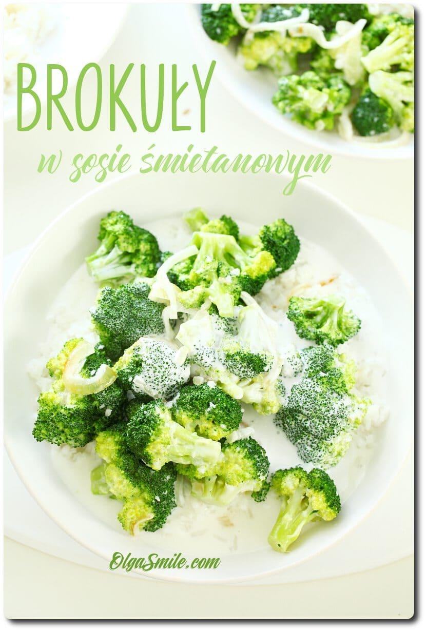 Brokuły w sosie