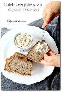 Chleb z ogórkami bezglutenowy