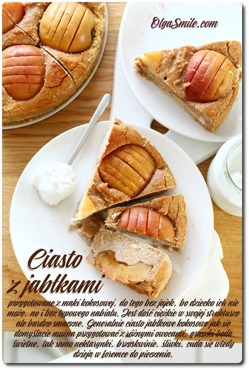 Ciasto z jabłkami kokosowe