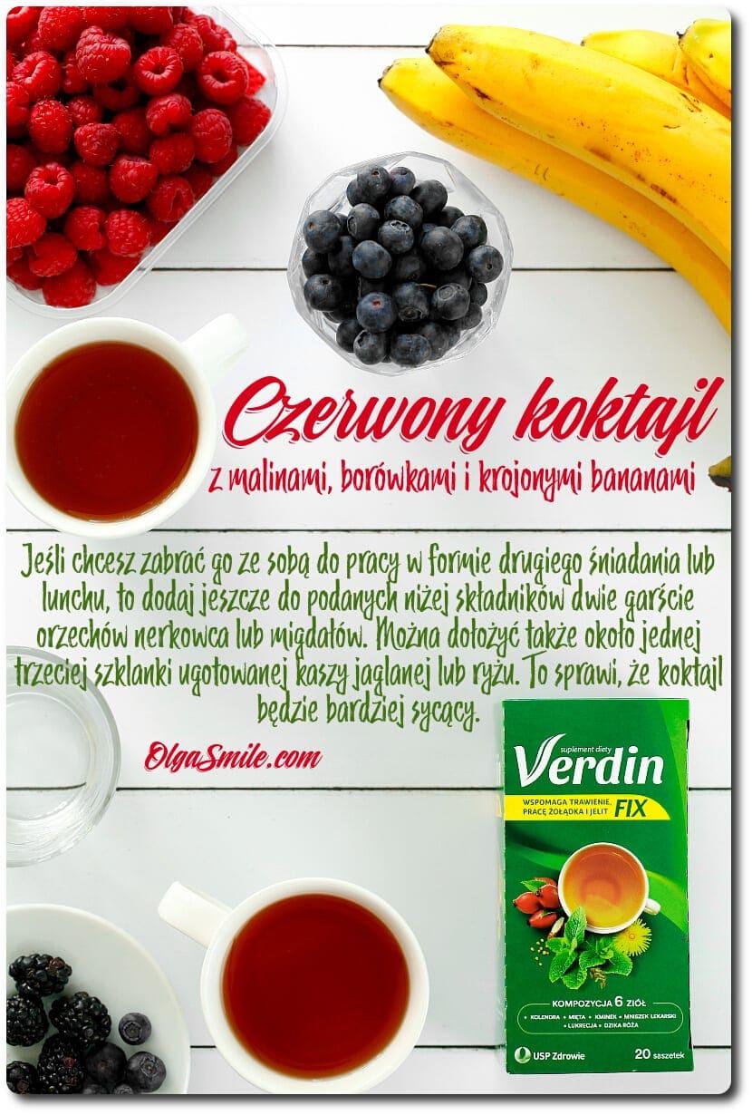 Czerwony koktajl z Verdin fix