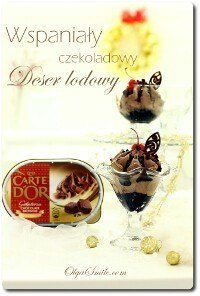Deser lodowy czekoladowy z Carte D'Or Chocolate Brownie