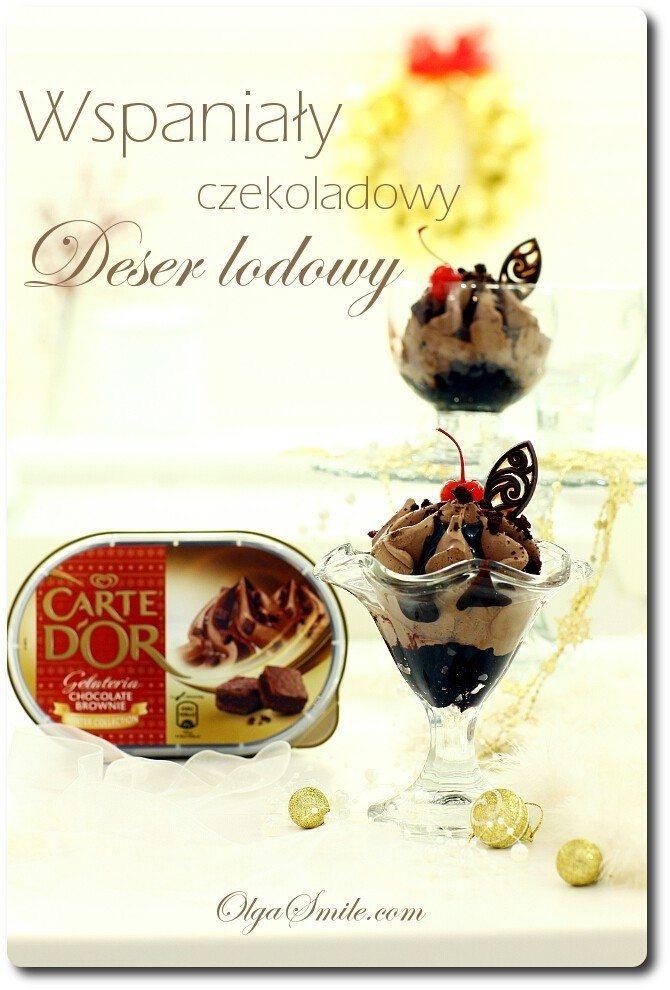 Deser lodowy czekoladowy z Carte D'Or Chocolate Brownie