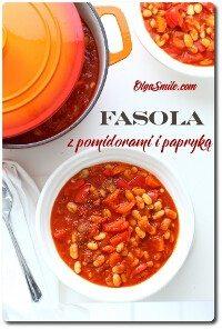 Fasola z pomidorami i papryką