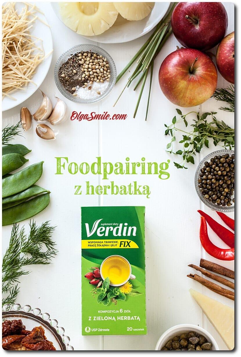 Foodpairing herbatki Verdin Fix z zieloną herbatą
