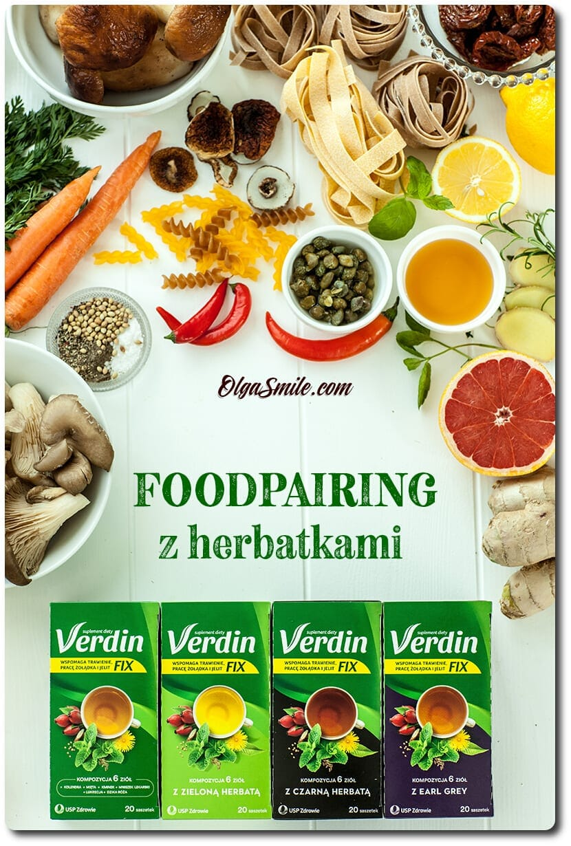 Foodpairing z herbatkami Verdin fix