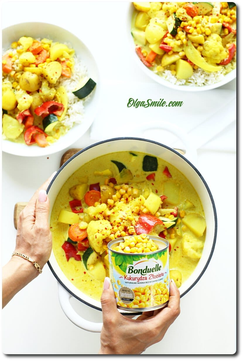 Gulasz warzywny z kukurydzą