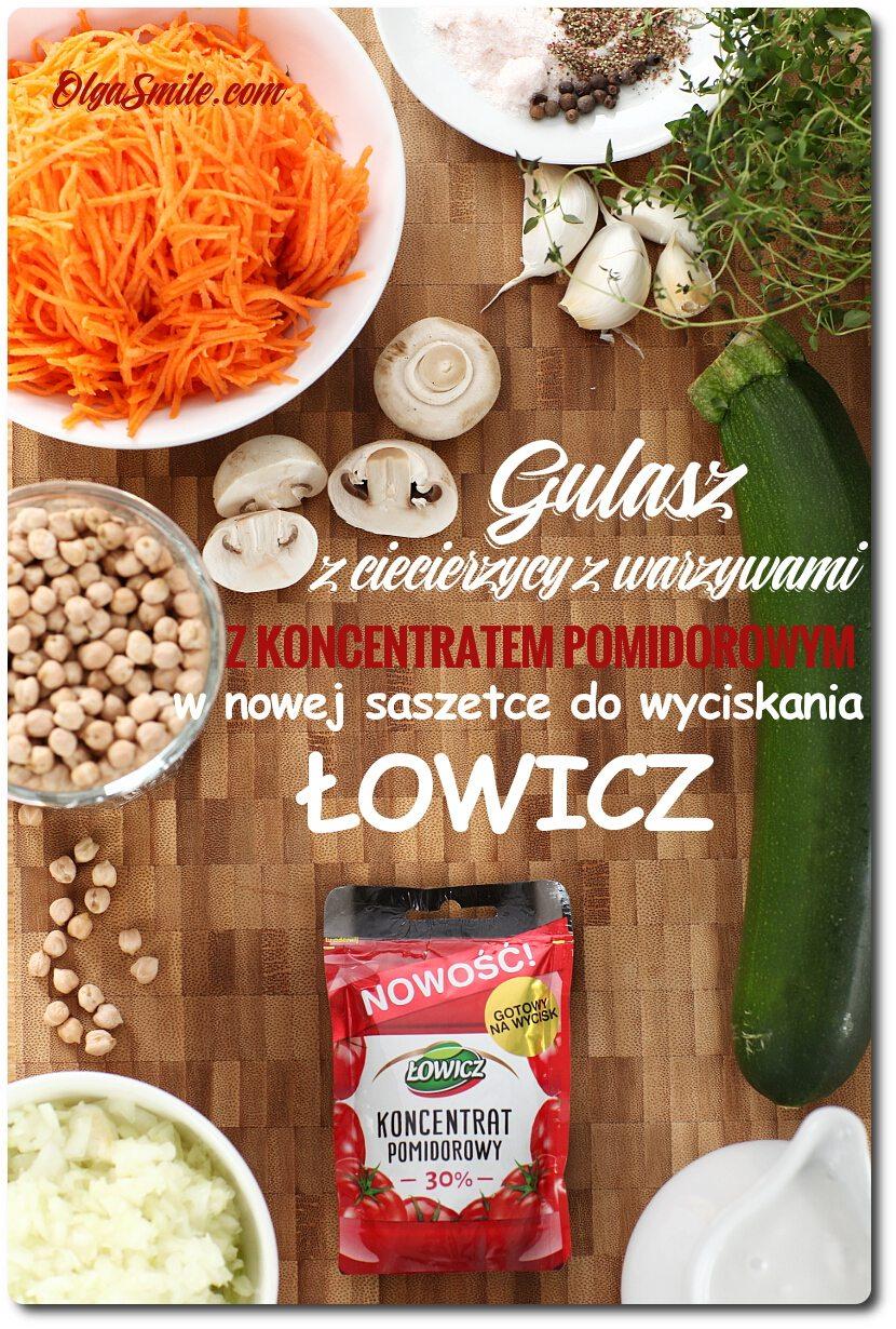 Gulasz z ciecierzycy z koncentratem pomidorowym Łowicz