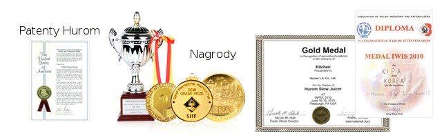 Hurom patenty i nagrody