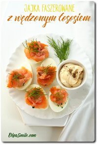 Jajka z łososiem