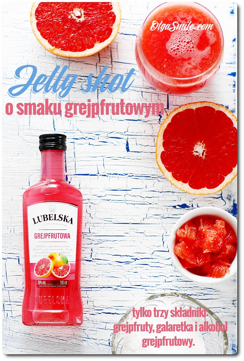 Jelly shot z grejpfrutem