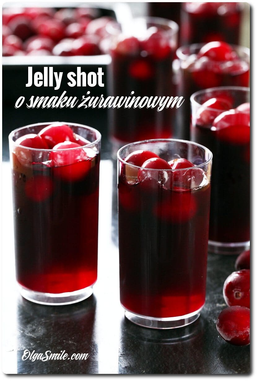 JELLY SHOT Z ŻURAWINĄ