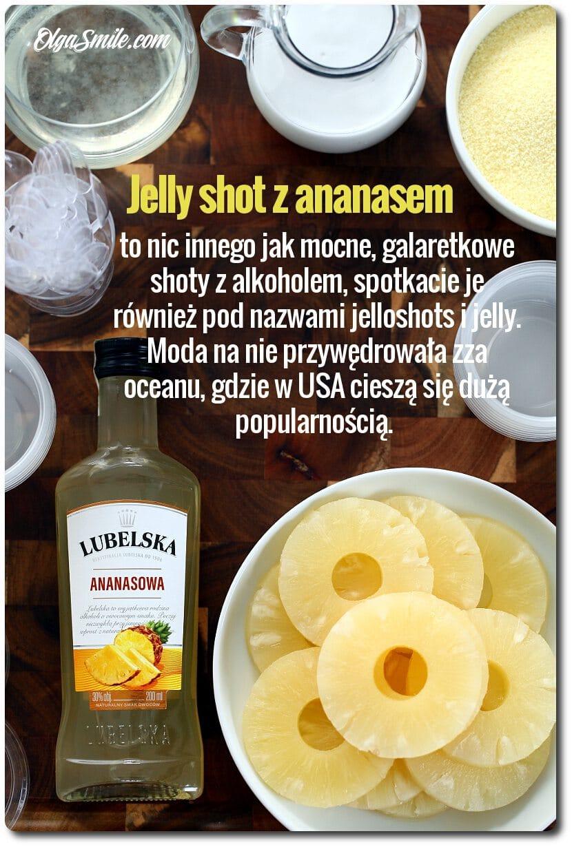 Jelly shot z ananasem