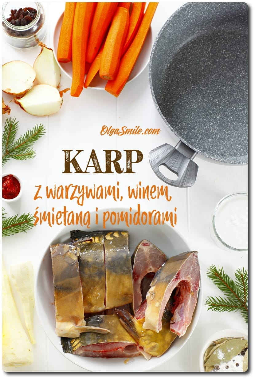Karp duszony z warzywami