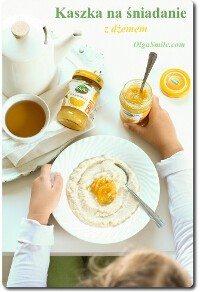 Kaszka na śniadanie z dżemem Łowicz
