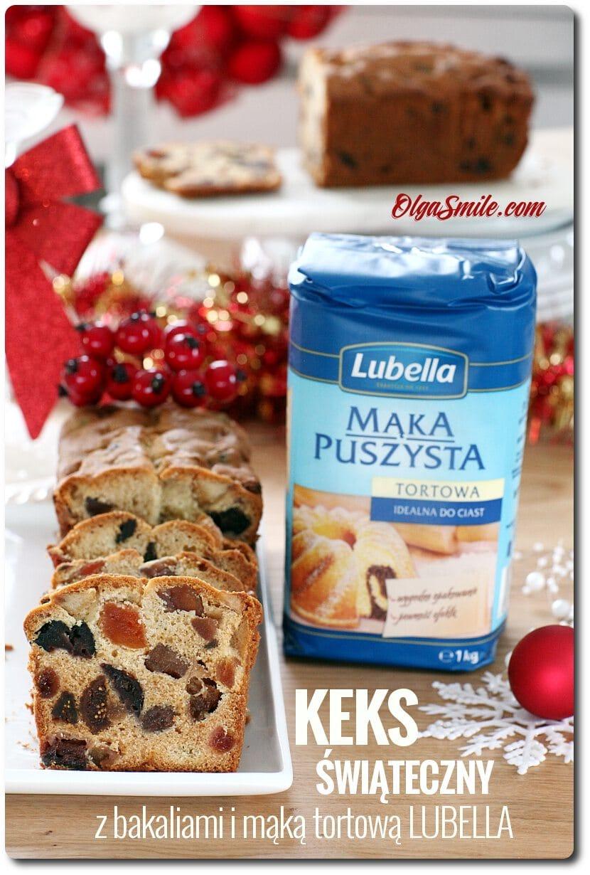Keks z bakaliami i mąką Lubella